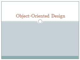 Object-Oriented Design A