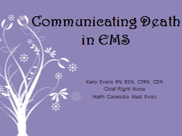 Communicating Death in EMS