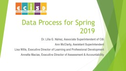 Data Process for Spring 2019