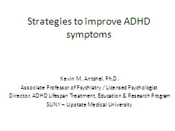 Strategies to improve ADHD symptoms