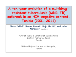 A ten-year evolution of a multidrug-resistant tuberculosis (MDR-TB) outbreak in an HIV-negative con