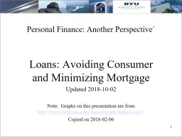 Personal Finance: Another Perspective`