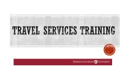 Travel services training