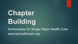 Chapter Building Kentuckians for Single