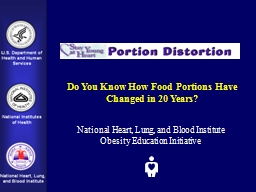 Do You Know How Food Portions Have