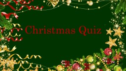 Christmas Quiz Round 1: The Christmas Story