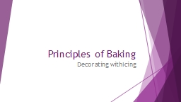 Principles of Baking Decorating with Icing