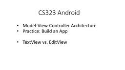 CS323 Android Model-View-Controller