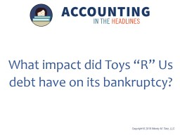 What impact did Toys �R� Us debt have on its bankruptcy?