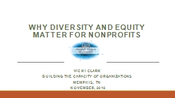WHY DIVERSITY AND EQUITY MATTER FOR NONPROFITS