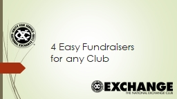 4 Easy Fundraisers  for any Club