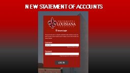 NEW STATEMENT OF ACCOUNTS