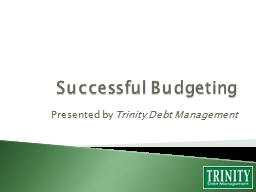 Successful  Budgeting Presented by