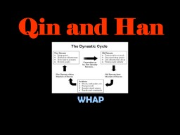 Qin and Han China WHAP General Info