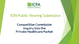 ICPA Public Hearing  S ubmission