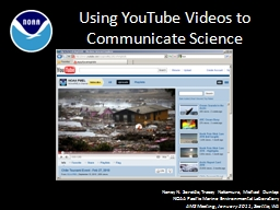 Using YouTube Videos to Communicate Science