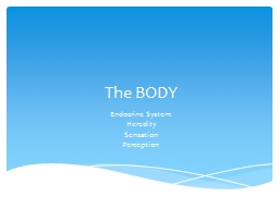 The  BODY Endocrine System