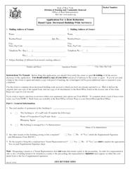 RA  Docket Number Application For A Rent Reduction Bas