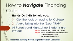 How to  Navigate  Financing College
