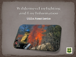 Wilderness Firefighting