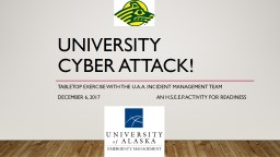 University       Cyber attack!
