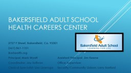 Bakersfield adult school
