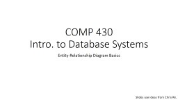COMP 430 Intro. to Database Systems