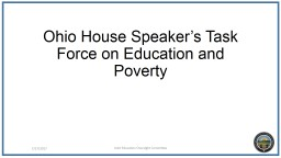 Ohio House Speaker's Task Force on Education and Poverty