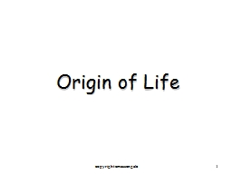 1 Origin of Life copyright cmassengale