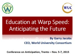 Education for Warp Speed: