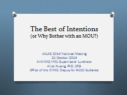 The Best of Intentions (or Why Bother with an MOU?)