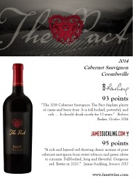"93 points  "" The 2014 Cabernet Sauvignon The Pact displays plenty of cassis and berry fruit. It i"