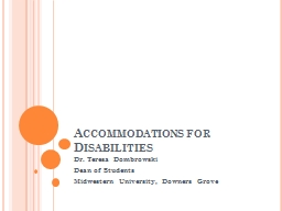 Accommodations for Disabilities