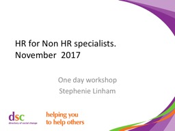 HR for Non HR specialists. PowerPoint PPT Presentation