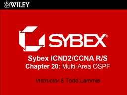 Sybex  ICND2/CCNA R/S Chapter