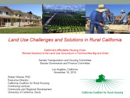 Land Use Challenges and Solutions in Rural California