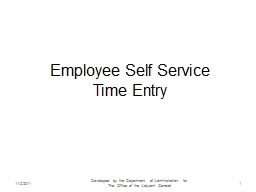 Employee Self Service Time Entry