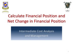 Interpret Changes in a Financial Position Over a Period of Time