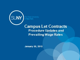 Campus Let Contracts  Procedure Updates and