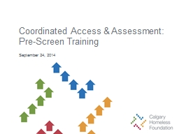 Coordinated  Access & Assessment