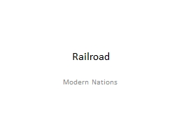 Railroad Modern Nations D
