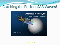 Catching the Perfect SAR