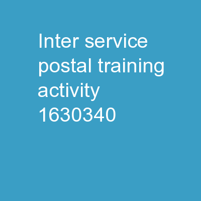 Inter-Service Postal Training Activity