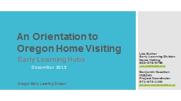 An Orientation to Oregon Home Visiting