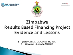 1 Zimbabwe  Results Based Financing Project