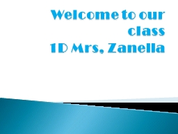 Welcome to our class 1D