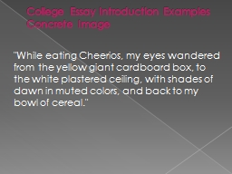 College Essay Introduction