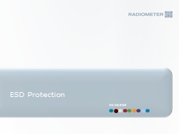ESD Protection 22/05/2012