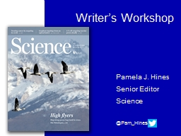 Writer's Workshop Pamela J. Hines