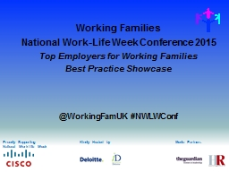 Kindly Hosted by Working Families